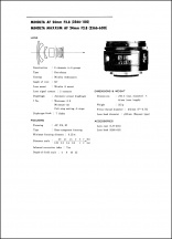 Minolta AF 24mm f2.8 Service Manual