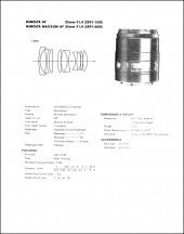 Minolta AF 35mm f1.4 Service Manual