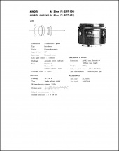 Minolta AF 35mm f2 Service Manual