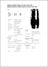 Minolta AF 75-300mm f4.5-5.6 Service Manual