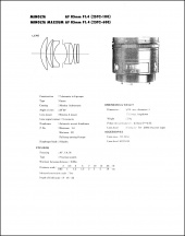 Minolta AF 85mm f1.4 Service Manual