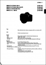 Minolta Maxxum QTsi and Dynax 303si Service Manual