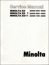 Minolta XD-Series Service Manual