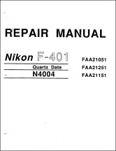 Nikon N4004s and F401s Service Manual