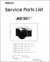 Pentax MZ-50 Parts List