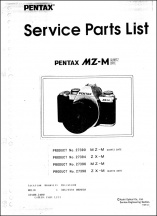 Pentax MZ-M and ZX-M Parts List