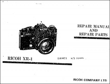 Ricoh XR-1 and Sears KS-1000 Service Manual