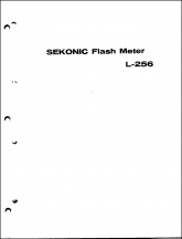 Sekonic L-256 Flash Meter Parts Diagram