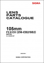 Sigma 105mm f2.8 EX Macro (For Canon) Parts List