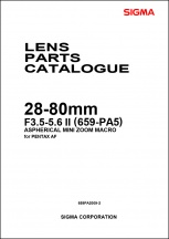 Sigma 28-80mm f3.5-5.6 (Pentax Mount) Parts List