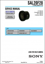 Sony 20mm f2.8 Lens Service Manual