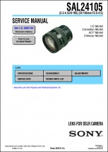 Sony 24-105mm f3.5-4.5 Lens Service Manual