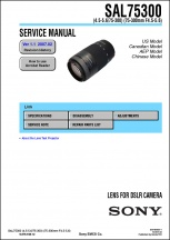 Sony 75-300mm f4.5-5.6 Lens Service Manual