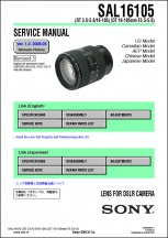 Sony DT 16-105mm f3.5-5.6 Lens Service Manual