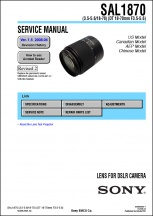 Sony DT 18-70mm f3.5-5.6 Lens Service Manual