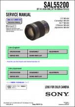 Sony DT 55-200mm f4-5.6 Lens Service Manual