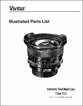 Vivitar 17mm f3.5 Parts Diagrams