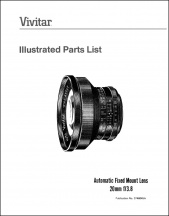 Vivitar 20mm f3.8 Parts Diagrams