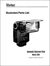 Vivitar 2500 Flash Parts Diagram