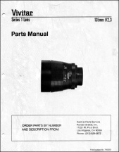 Vivitar Series-1 135mm f2.3 Parts Diagrams