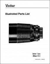 Vivitar Series-1 200mm f3.0 Parts Diagrams