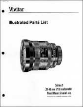 Vivitar Series-1 24-48mm f3.8 Parts Diagrams