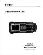 Vivitar Series-1 28-90mm f2.8-3.5 Parts Diagrams