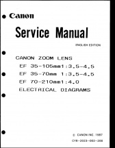 Canon EF Zooms Service Manual