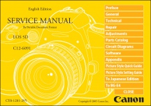 Canon EOS-5D Service Manual