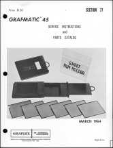 Graflex Grafmatic 45 Service Manual