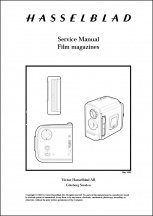 Hassleblad Film Magazines Service Manual