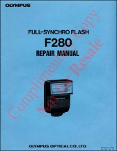 Olympus F280 Flash Service Manual